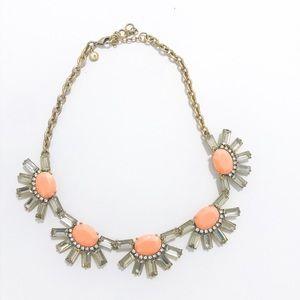 J Crew coral/orange statement necklace